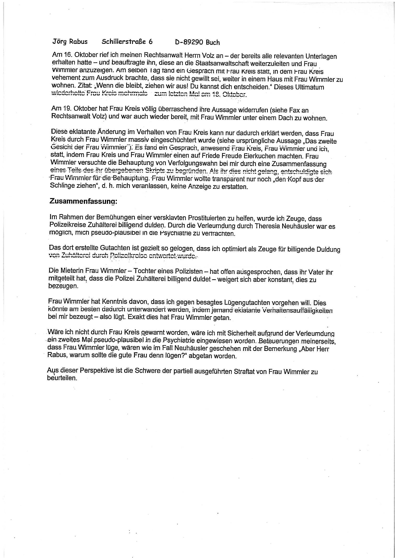 brief erhalten schriftlich bestätigen